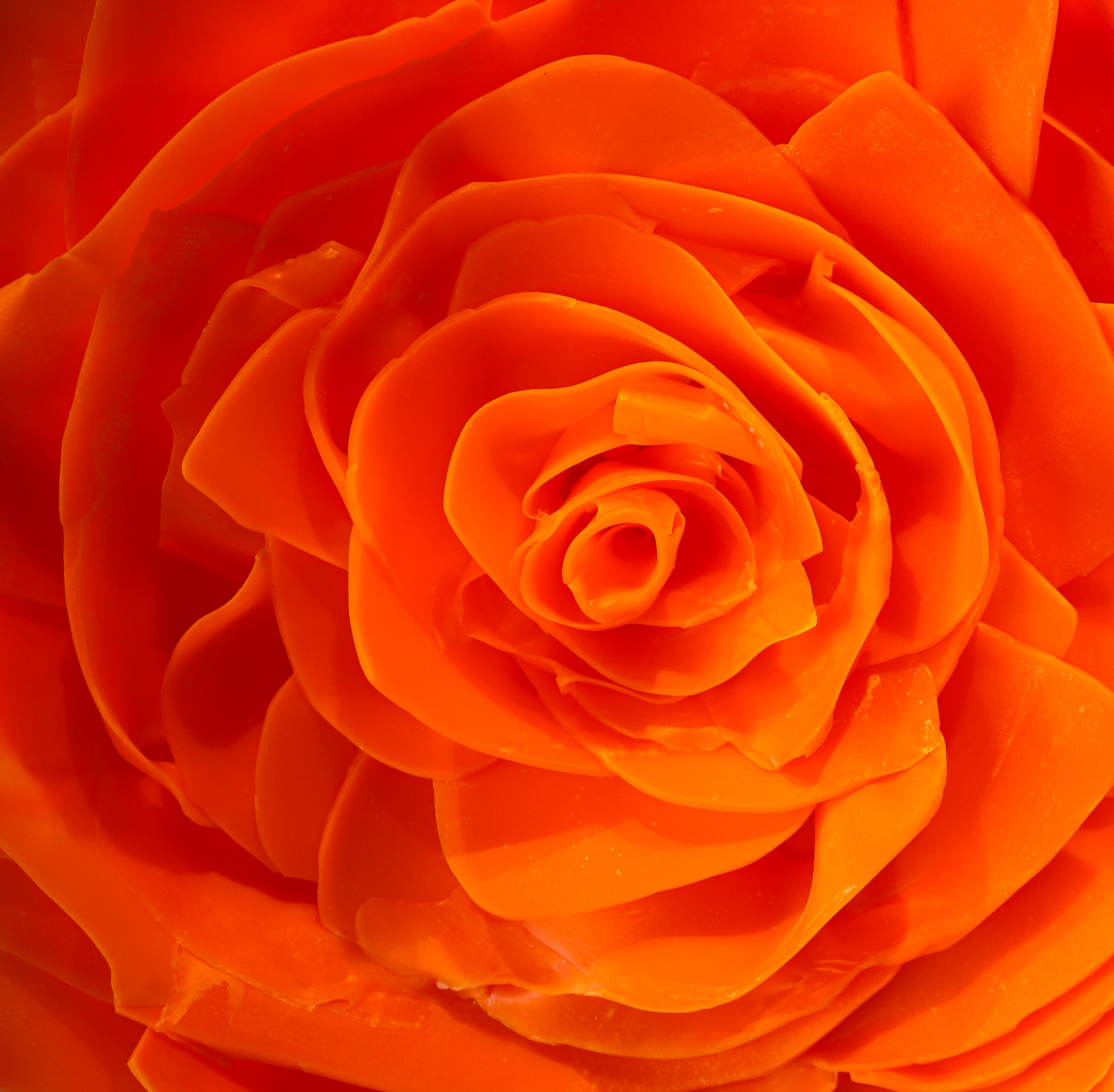 Epoxy Flower – Orange Closeup